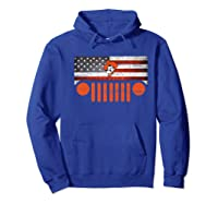 Oklahoma State Cow Nation Flag Apparel Premium T Shirt Hoodie Royal Blue