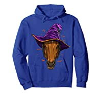 Horse Witch Hat Funny Halloween Gifts Horse Lover Whisperer T Shirt Hoodie Royal Blue
