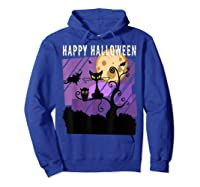 Spoopy Funny Halloween Black Cat Witch Hallow S Eve Joke T Shirt Hoodie Royal Blue