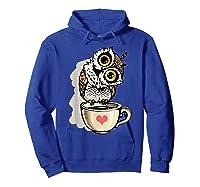 Cute Owl Cartoon Bird Hand Draw T Shirt Design Hoodie Royal Blue