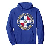 Funny Beer Dominican Republic Drinking Team Casual T-shirt Hoodie Royal Blue
