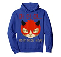 Ch Ch Ch Meow Meow Halloween Scary Cat Gifts Shirts Hoodie Royal Blue