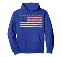 Life Liberty And The Pursuit Of Happiness Flag T Shirt Hoodie Royal Blue