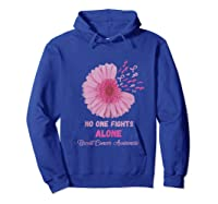 Breast Cancer Awareness Month Pink Ribbons Flower T Tank Top Shirts Hoodie Royal Blue