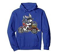 Easter Bunny Motorcycle Tshirt Biker Gifts Braap T-shirt Hoodie Royal Blue