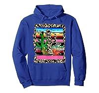 Fiesta Serape Cheetah Cactus Flower Cacti Rabbit T Shirt Hoodie Royal Blue