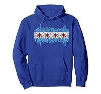 City Of Chicago Shirt Chicago City Vintage Flag Premium T Shirt Hoodie Royal Blue