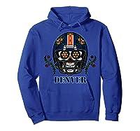 Denver Football Helmet Sugar Skull Day Of The Dead T Shirt Hoodie Royal Blue
