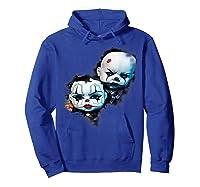 Creepy Evil Clown Halloween T-shirt Hoodie Royal Blue