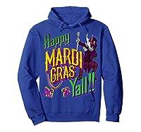 Happy Mardi Gras Yall Dabbing Voodoo King Costume Gift Shirts Hoodie Royal Blue