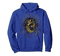 January Girl The Soul Of A Mermaid Tshirt Funny Gifts Premium T Shirt Hoodie Royal Blue