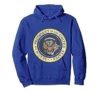 Fake Presidential Seal 45 Es Un Titere Puppet Trump Shirts Hoodie Royal Blue
