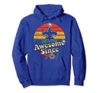 Vintage Saints Awesome Since 1967 New Orleans Football Retro Shirts Hoodie Royal Blue