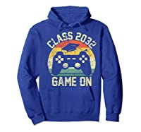 Kindergarten 2019 Class Of 2032 Game On Gamer, Grow With Me Shirts Hoodie Royal Blue