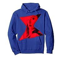 Marvel Black Widow Portrait Logo Overlay T-shirt Hoodie Royal Blue