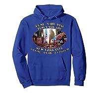 Times Square New York City Visit Shirts Hoodie Royal Blue
