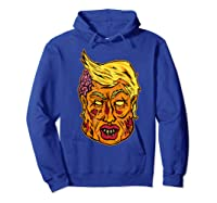 Cool And Creative Zombie Donald Trump T-shirt Hoodie Royal Blue
