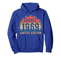 Vintage August 1969 Graphic For , Shirts Hoodie Royal Blue
