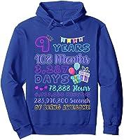 9 Years Old Gifts 9th Birthday Shirt Countdown T-shirt Hoodie Royal Blue