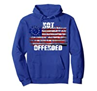 Not Offended B Ross American Flag Shirts Hoodie Royal Blue