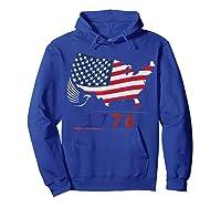 B Ross 1776 American Flag Eagle 4th Of July Shirts Hoodie Royal Blue