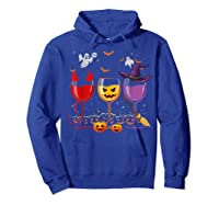 Three Glasses Of Wines Funny Halloween Wine Lover Shirts Hoodie Royal Blue