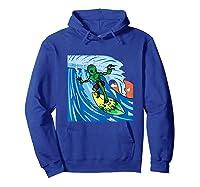 Area-51 Alien Surfing Ocean Wave Lazy Surfer Halloween Gift Tank Top Shirts Hoodie Royal Blue