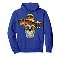 Day Of The Dead Sugar Skull Funny Cinco De Mayo T Shirt Hoodie Royal Blue