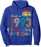Made In 1993 Vintage Retro 28 Years Old 28th Birthday Gifts T-shirt Hoodie Royal Blue