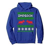 Impeach Christmas T Shirt Anti Trump Tee Hoodie Royal Blue