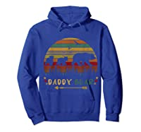 Daddy Bear With Two Cups Retro Gift For Father S Day T Shirt Hoodie Royal Blue
