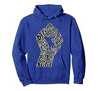 Resist Fist Anti Trump Impeach Trump T Shirt Hoodie Royal Blue