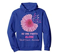 Breast Cancer Awareness Month Pink Ribbons Flower T T Shirt Hoodie Royal Blue