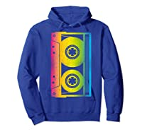 Cassette Tape 80s 90s Vintage Retro Funny Halloween Shirts Hoodie Royal Blue