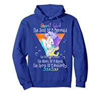 April Girl The Soul Of A Mermaid The Fire Of A Lioness Shirts Hoodie Royal Blue