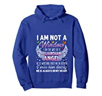 I Am Not A Widow I Am The Wife Of A Guardian Angel Butterfly Shirts Hoodie Royal Blue