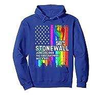 Stonewall Riots 50th Lbgtq Gay Pride American Flag Shirts Hoodie Royal Blue
