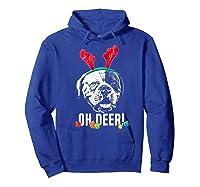 Oh Deer Funny American Bulldog Xmas Premium T-shirt Hoodie Royal Blue