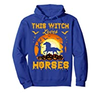 This Witch Loves Horses T-shirt Halloween Cosplay Hoodie Royal Blue