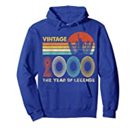19th Birthday Gift Vintage 2000 T-shirt 19 Years Old T-shirt Hoodie Royal Blue