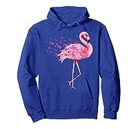 Cute Flamingo Pink Ribbon Breast Cancer Awareness T Shirt Hoodie Royal Blue