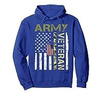 American Flag Camo Proud Us Army Veteran T-shirt Hoodie Royal Blue