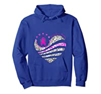 Funny Love Heart Breast Cancer Awareness Pink Ribbon Month Tank Top Shirts Hoodie Royal Blue