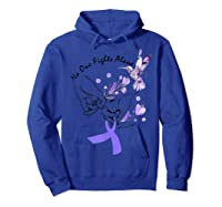 In This Family No One Fights Alone Funny Lupus Awareness T-shirt Hoodie Royal Blue