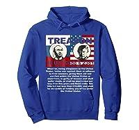 Trump Putin Treason T Shirt Impeach 45 Code 2381 Treason Hoodie Royal Blue