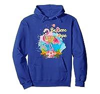 Pink Flamingo Believe Hope Breast Cancer Awareness Month Premium T Shirt Hoodie Royal Blue