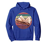 Bookworm Vintage Retro Bookish Reading Read A Book Day Gift T Shirt Hoodie Royal Blue