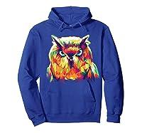 Owl Pop Art Style T Shirt Design Hoodie Royal Blue