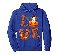 Love Beagle Pumpkin Halloween T-shirt Halloween Gifts Hoodie Royal Blue