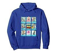 The Look Of Spongebob Characters Shirts Hoodie Royal Blue